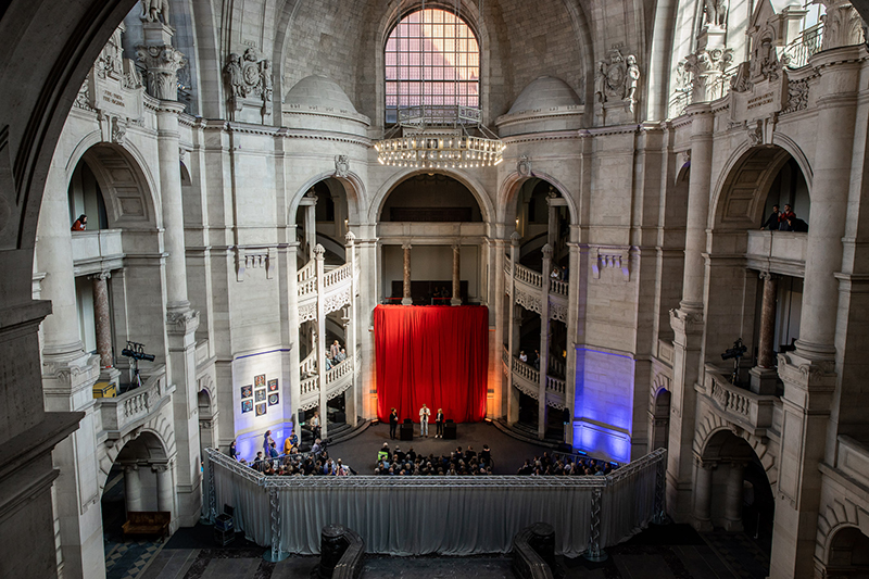 The first excerpts of Hannovers bid to become European Capital of Culture 2025 were published in the New City Hall, which got transformed into an Agora